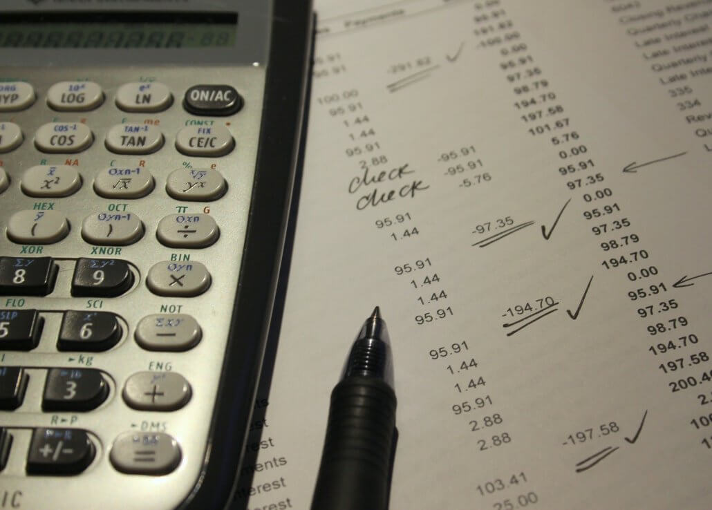 parkersburg wv business bookkeeping closeup of balance sheet